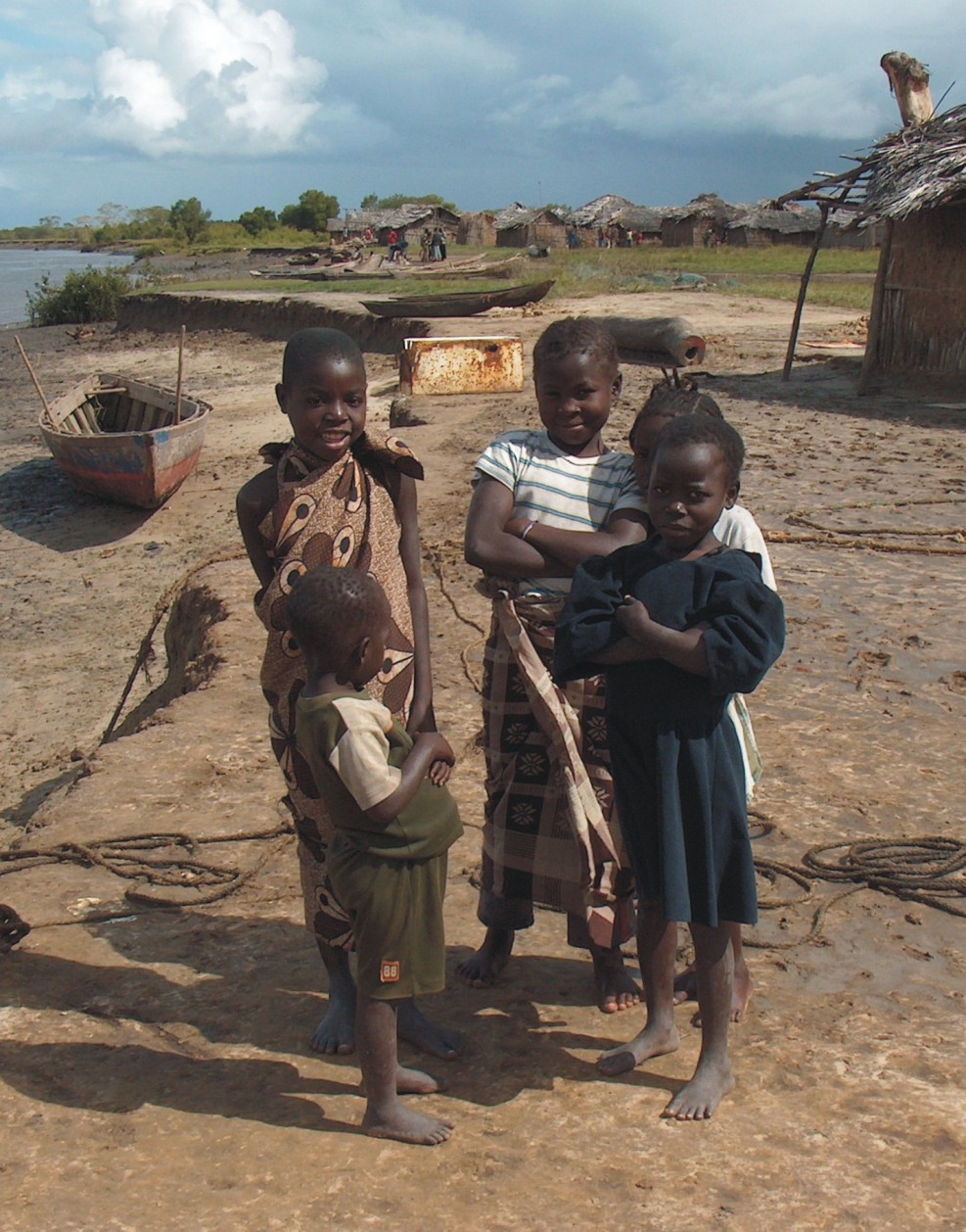 Kids from a Mozambican fishing village near Quelimane